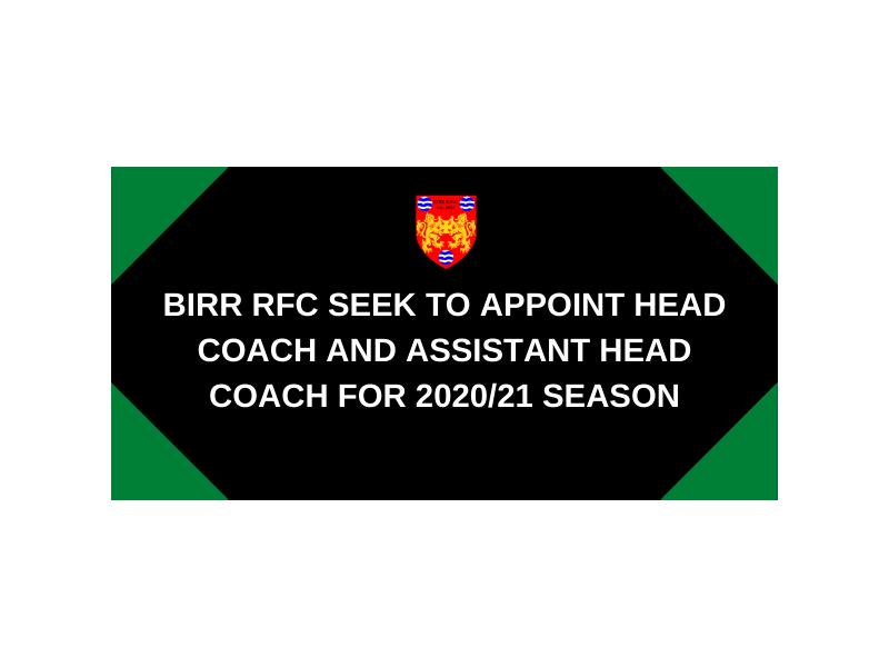 birr-rfc-seek-to-appoint-head-coach-and-assistant-head-coach-for-2020-21-season